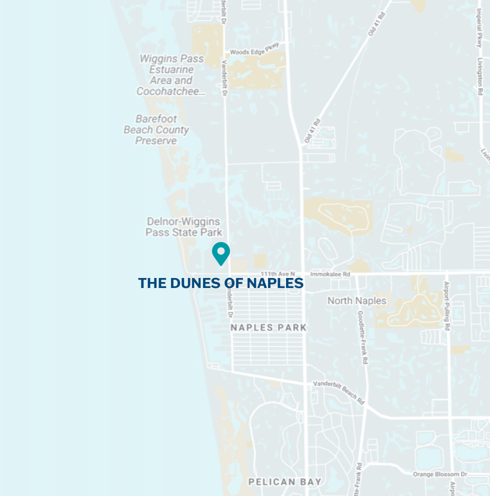 The Dunes of Naples Location